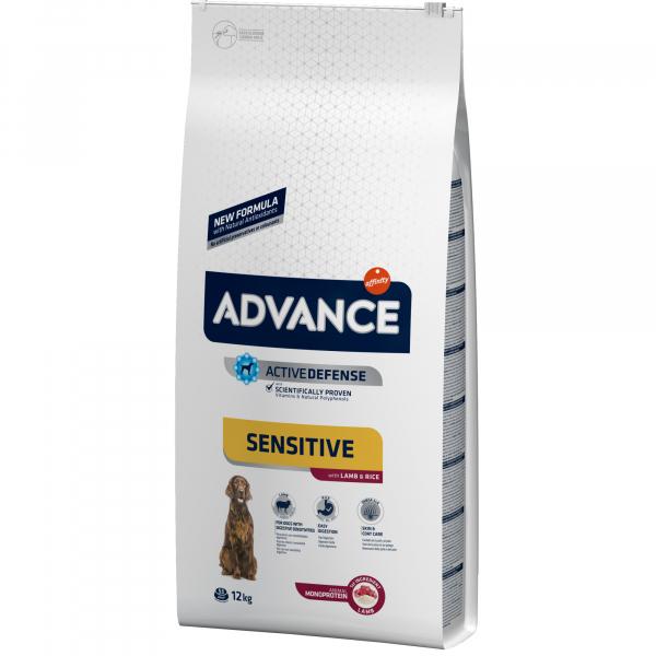 Hrana uscata pentru caini Advance Sensitive, Miel & Orez, 12 Kg [0]