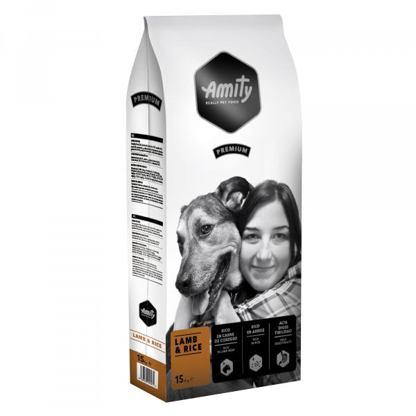 Hrana uscata pentru caini Amity Premium Miel si Orez, 15 kg 0