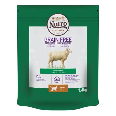 Hrana uscata pentru caini cu miel, Nutro Grain Free Junior, 1,4 Kg [0]