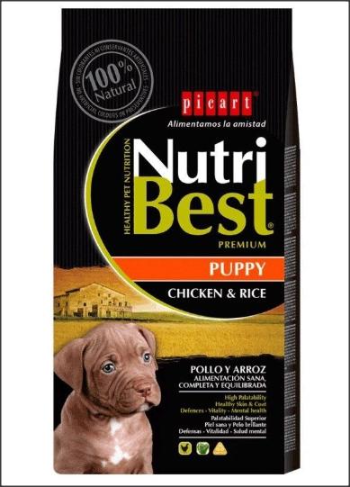 Hrana uscata pentru caini cu pui si orez, Adult, Nutribest, 3 kg 0