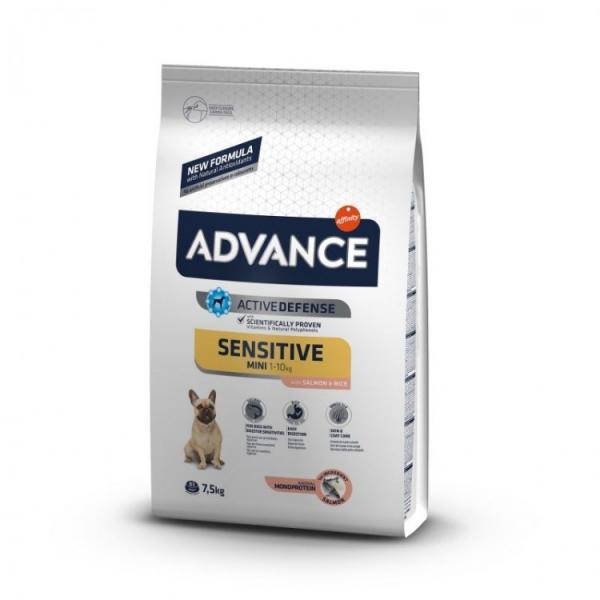 Hrana uscata pentru caini cu Pui si Orez, Advance Mini Sensitive, 7.5 Kg 0