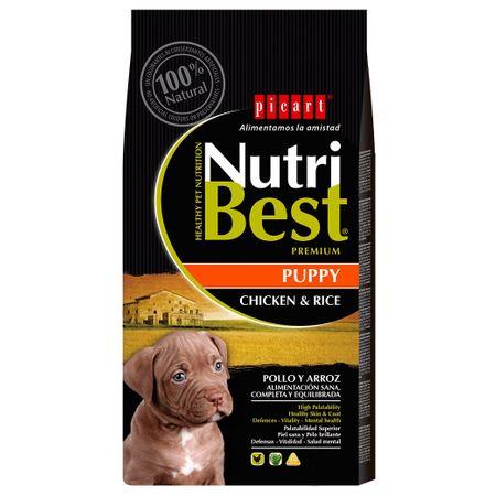 Hrana uscata pentru caini cu pui si orez, Puppy, Nutribest, 3 kg 0