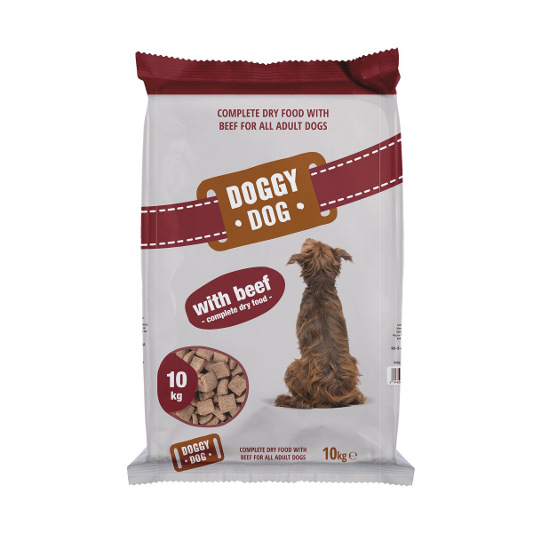 Hrana uscata pentru caini Doggy Dog, Vita, 10 kg 0