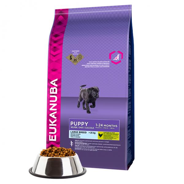 Hrana uscata pentru caini, Eukanuba Puppy & Junior Large, Pui, 15 kg 0