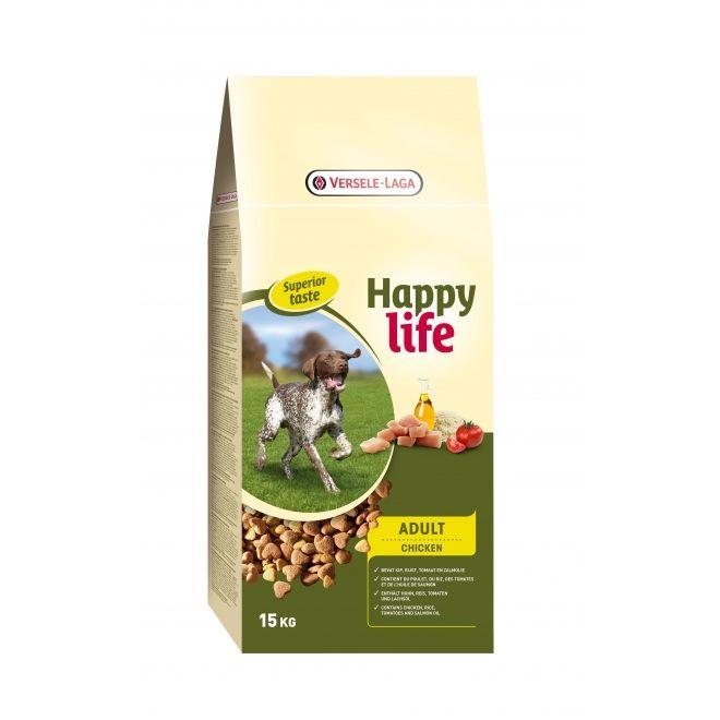 Hrana uscata pentru caini, Happy Life, Adult cu pui, Versele-Laga, 15Kg 0