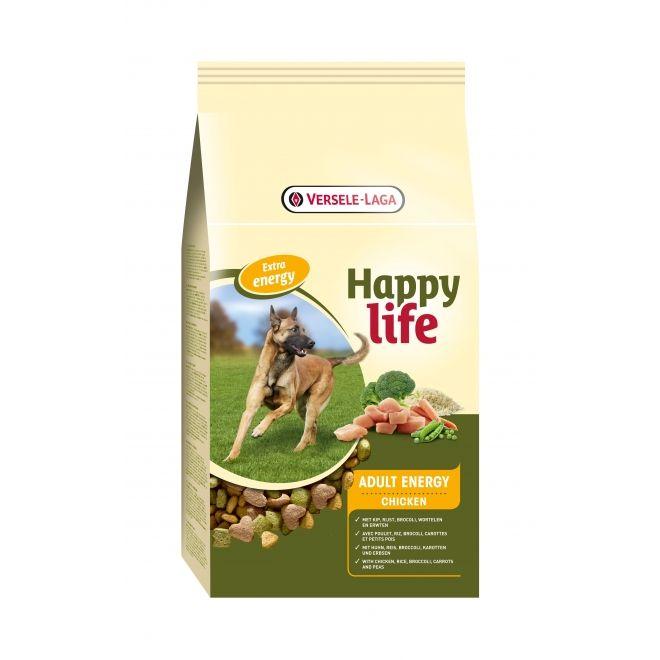 Hrana uscata pentru caini, Happy Life, Chicken energy, Adult, Versele-Laga, 15 Kg [0]
