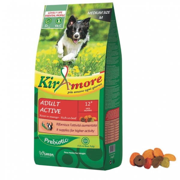 Hrana uscata pentru caini, KIRAmore Medium Adult Active, 15 kg [0]