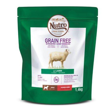Hrana uscata pentru caini, Nutro Grain Free Adult Talie Mica Miel, 1.4 Kg [0]
