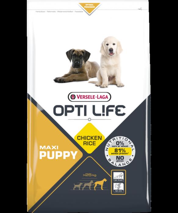 Hrana uscata pentru caini, Opti Life, Maxi Puppy, Versele-Laga, 12.5 kg 0