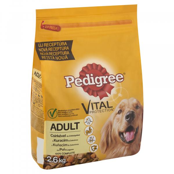Hrana uscata pentru caini, Pedigree Adult, Pui si Legume, 2.6 Kg [1]