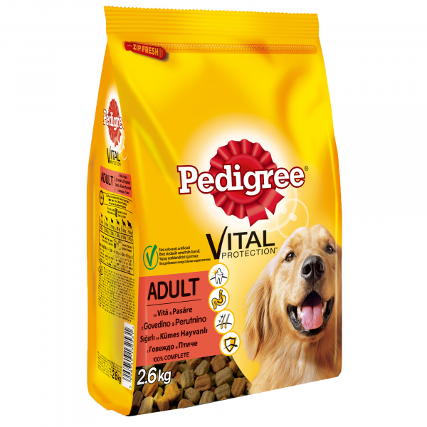 Hrana uscata pentru caini Pedigree Adult, Vita & Pasare, 2.6 Kg 0