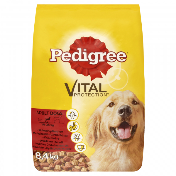 Hrana uscata pentru caini Pedigree Adult, Vita & Pasare, 8.4 Kg 0