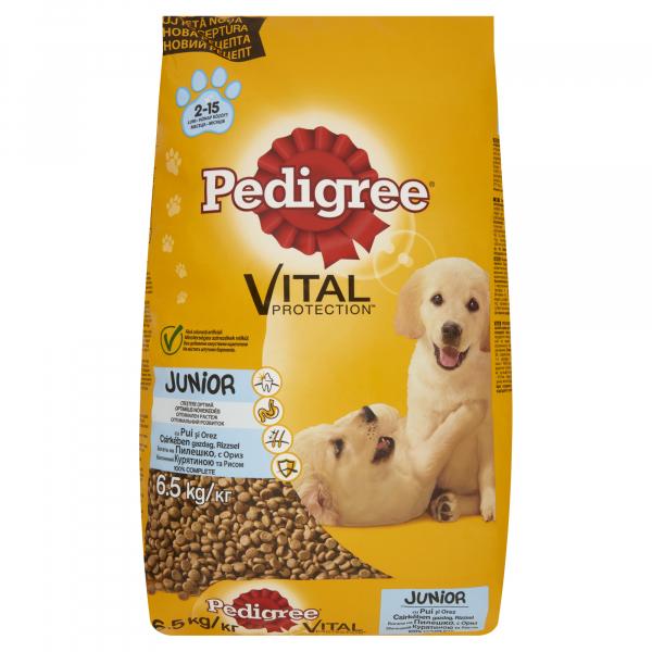 Hrana uscata pentru caini Pedigree Junior, Pui si Orez, 6.5 Kg [0]