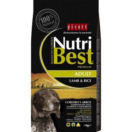 Hrana uscata pentru caini premium cu miel si orez, Adult, Nutribest, 3 kg [0]