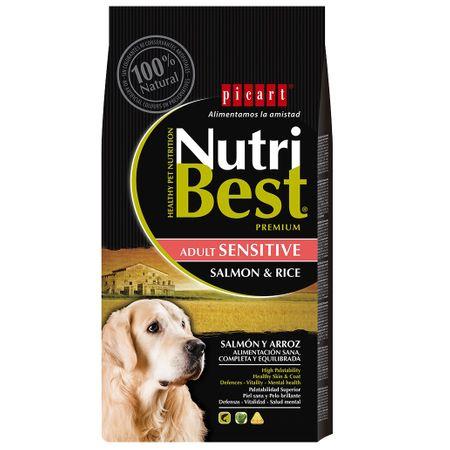 Hrana uscata pentru caini premium cu somon si orez, Adult, Nutribest, 3 kg 0