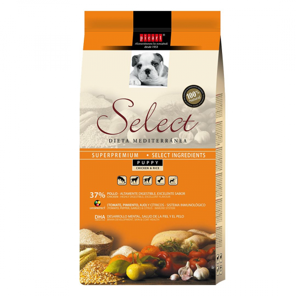 Hrana uscata pentru caini Select Puppy, Pui si Orez, 3 kg 0