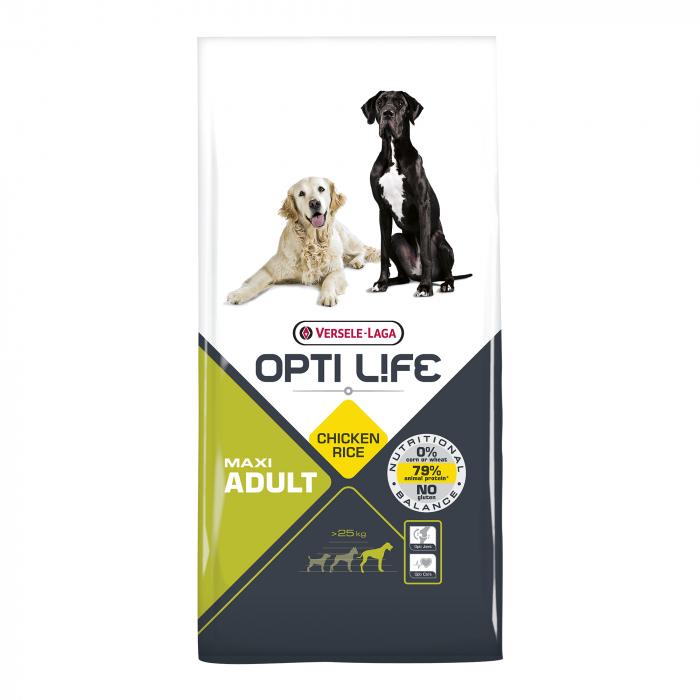 Hrana uscata pentru caini Versele Laga Opti Life, Adult Maxi, 12,5 kg 0
