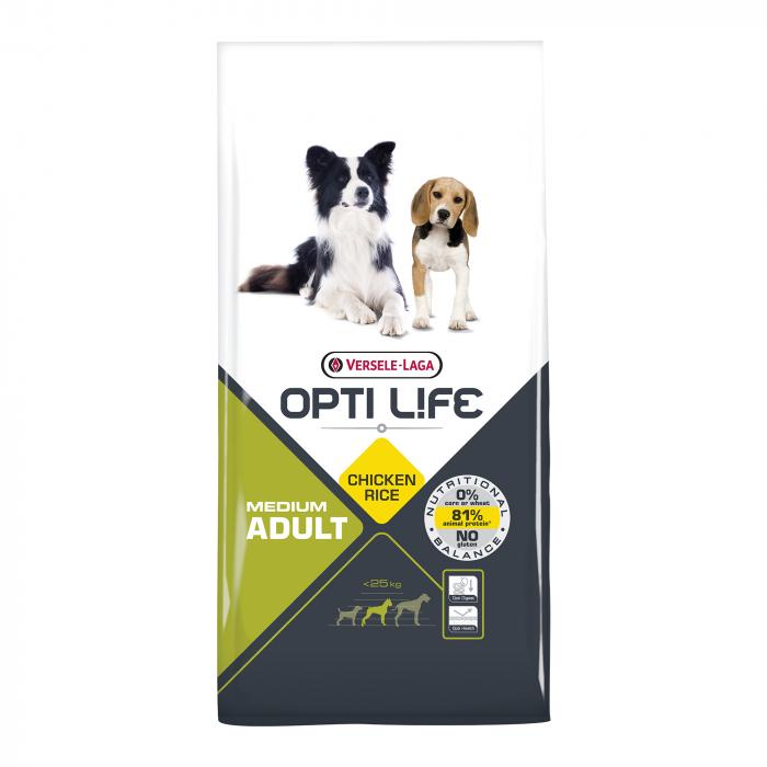 Hrana uscata pentru caini Versele Laga Opti Life, Adult Medium, 12,5 kg [0]