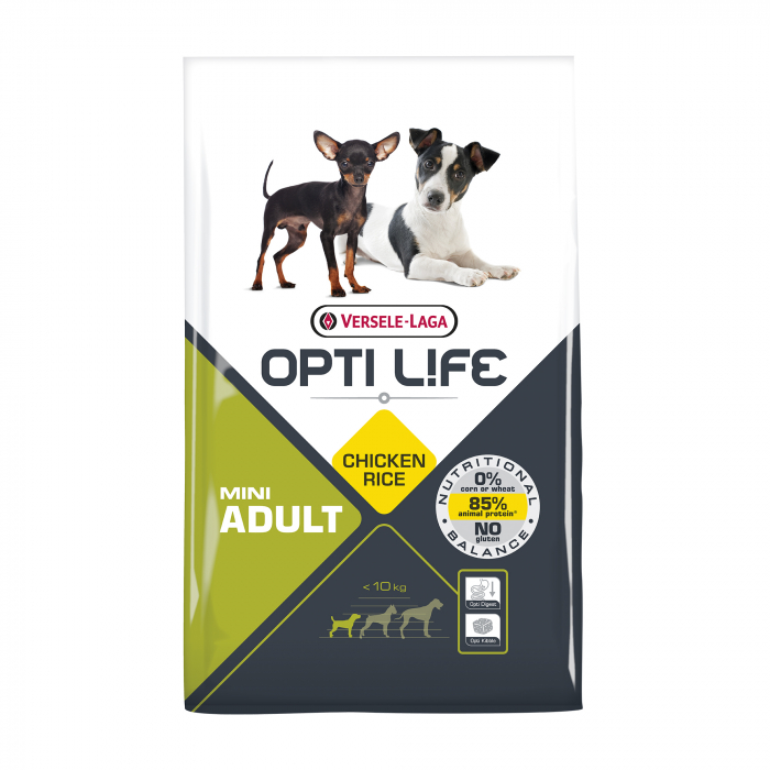 Hrana uscata pentru caini Versele Laga Opti Life, Adult Mini, 7,5 kg 0