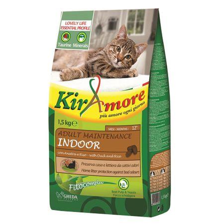 Hrana uscata pentru pisici KIRAmore Cat Adult Maintenance Indoor, 1.5 kg 0