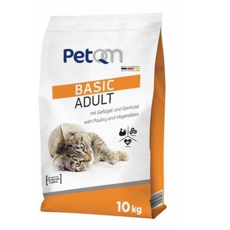 Hrana uscata pentru pisici, Basic Adult, PetQM, 10 kg 0