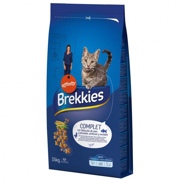 Hrana uscata pentru pisici Brekkies Excel Complet, 15 Kg [0]