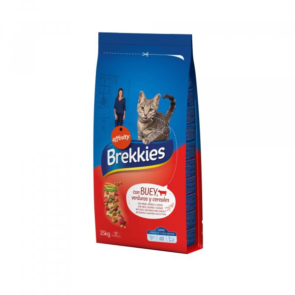 Hrana uscata pentru pisici Brekkies Excel Mix, Vita, 15 Kg [0]