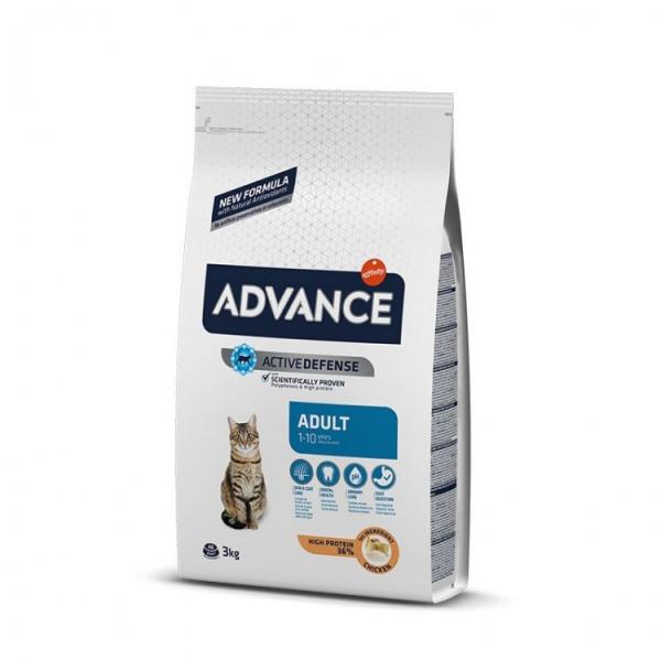 Hrana uscata pentru pisici cu pui si orez, Advance Cat Adult, 3Kg [0]