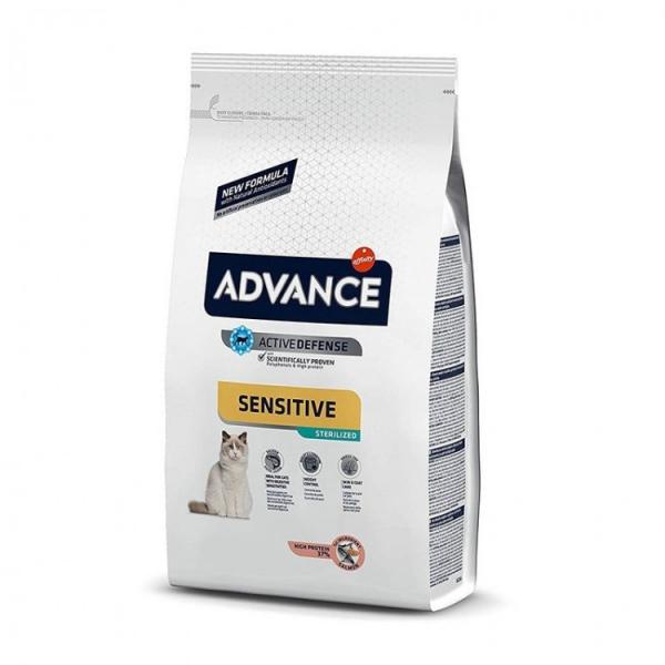 Hrana uscata pentru pisici cu somon, Advance Cat Sensitive Sterilized, 1.5 Kg [0]