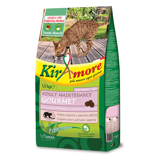 Hrana uscata pentru pisici KIRAmore Cat Adult Maintenance Gourmet, 1.5 kg 0