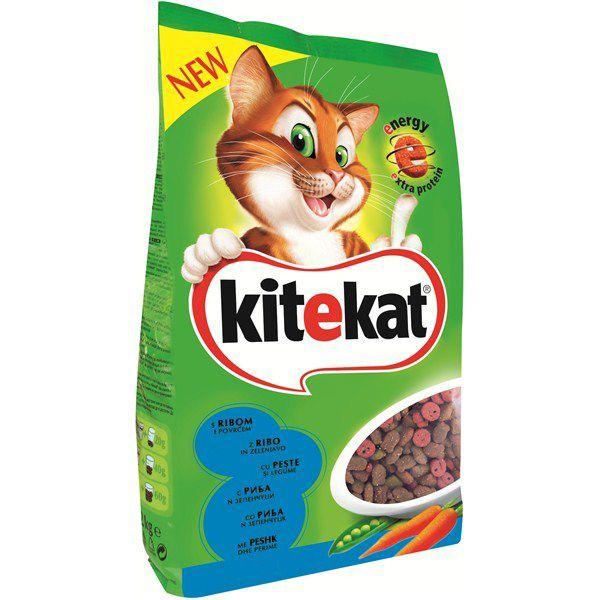 Hrana uscata pentru pisici Kitekat, Ton & Legume, 1.8Kg 0