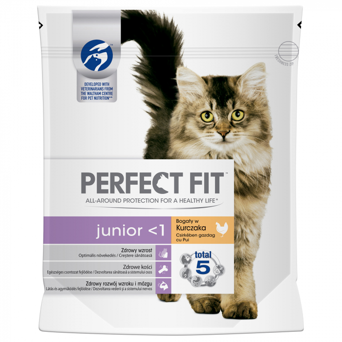 Hrana uscata pentru pisici Perfect Fit Junior, 750g 0