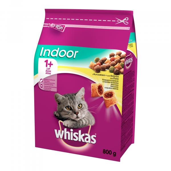 Hrana uscata pentru pisici Whiskas, Adult, Pui, 800g [0]