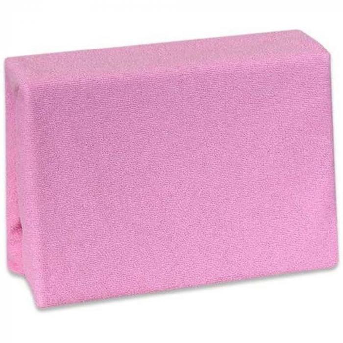Husa de pat din frotir Jerry, pat dublu, Roz, 160x200 cm [0]