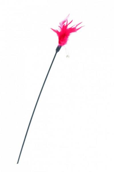 Jucarie pentru pisici Comfy Wilma Rod Feather, rosu, Aquael, 60cm [0]