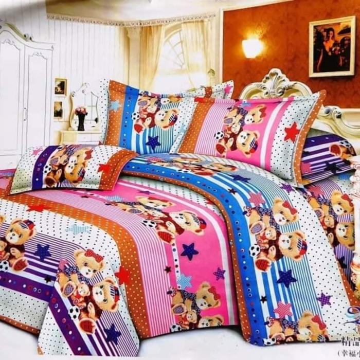 Lenjerie de pat matrimonial cu husa de perna dreptunghiulara, Amazing, bumbac mercerizat, multicolor [0]
