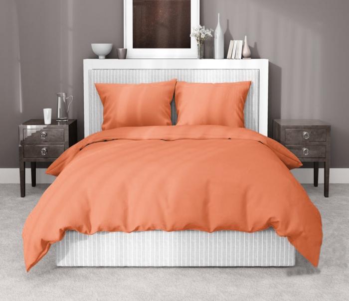 Lenjerie de pat matrimonial cu husa de perna dreptunghiulara, Gianna, bumbac satinat, gramaj tesatura 120 g/mp, somon [0]