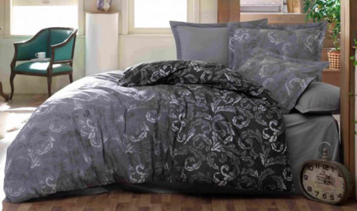 Lenjerie de pat pentru o persoana cu husa de perna dreptunghiulara, The mask, bumbac satinat, gramaj tesatura 120 g/mp, multicolor [0]
