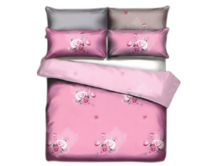 Lenjerie de pat pentru o persoana cu husa de perna dreptunghiulara, Fingals Cave, bumbac mercerizat, multicolor [0]