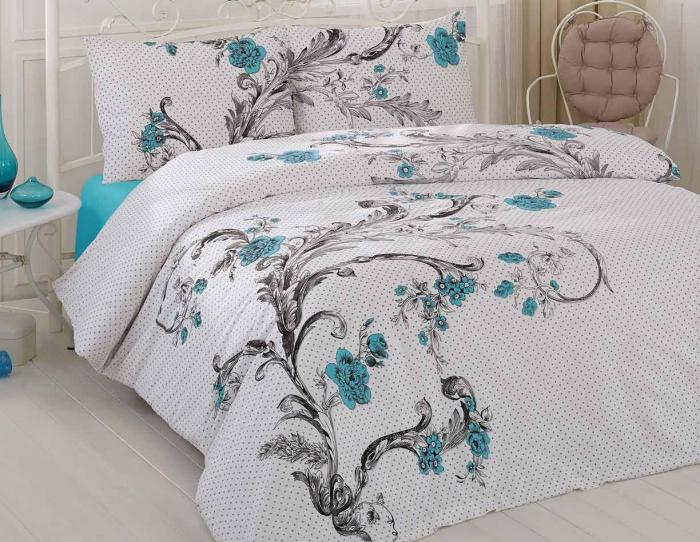 Lenjerie de pat pentru o persoana cu husa de perna dreptunghiulara, Good taste, bumbac satinat, gramaj tesatura 120 g/mp, multicolor [0]
