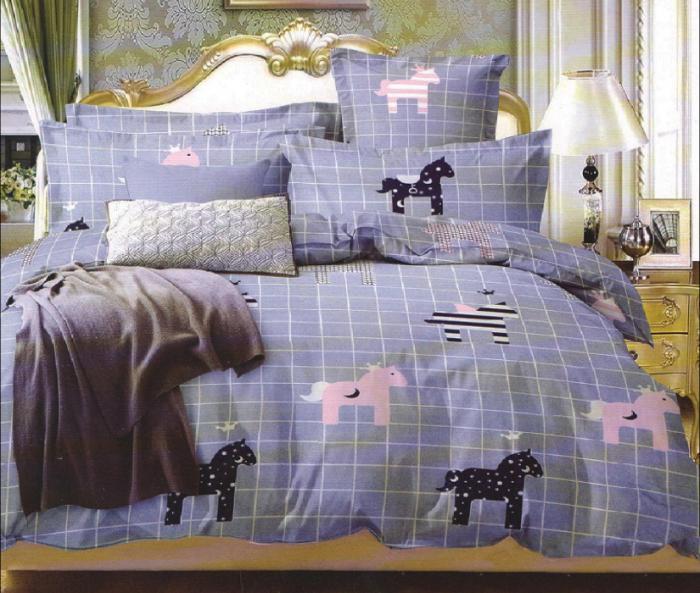 Lenjerie de pat pentru o persoana cu husa de perna dreptunghiulara, Meteora, bumbac mercerizat, multicolor [0]