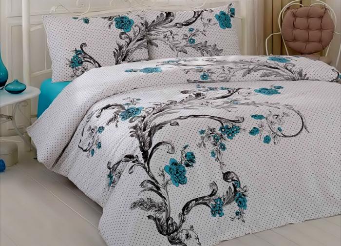 Lenjerie de pat pentru o persoana cu husa elastic pat si fata perna dreptunghiulara, Good taste, bumbac satinat, gramaj tesatura 120 g/mp, multicolor [0]