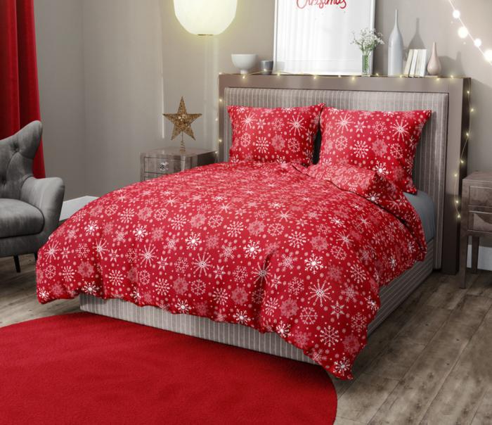 Lenjerie de pat pentru o persoana cu husa elastic pat si fata perna dreptunghiulara, Maya, bumbac satinat, gramaj tesatura 120 g/mp, multicolor [0]