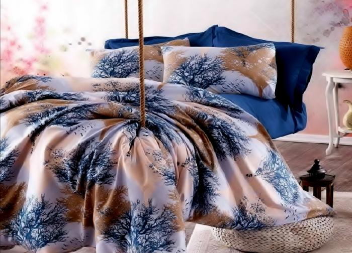 Lenjerie de pat pentru o persoana cu husa elastic pat si fata perna dreptunghiulara, Vampire, bumbac satinat, gramaj tesatura 120 g/mp, multicolor [0]