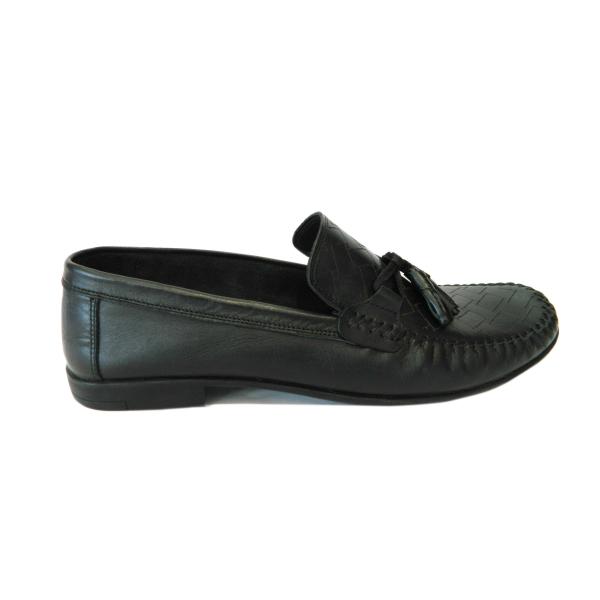Pantofi pentru barbati din piele naturala, 70s, Goretti, Negru, 40 EU 0