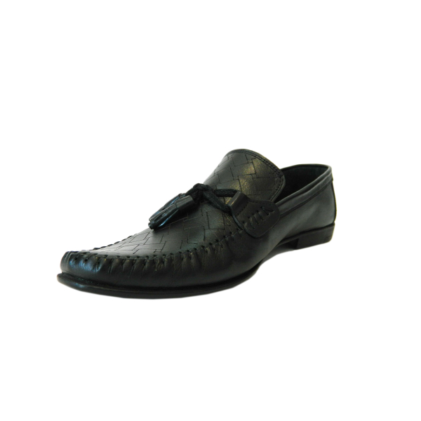Pantofi pentru barbati din piele naturala, 70s, Goretti, Negru, 40 EU 2