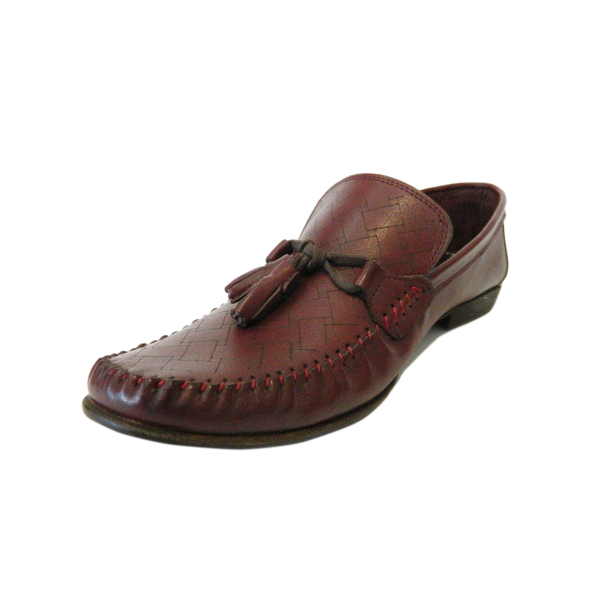 Pantofi pentru barbati din piele naturala, 70s, Goretti, Bordeaux, 40 EU [2]