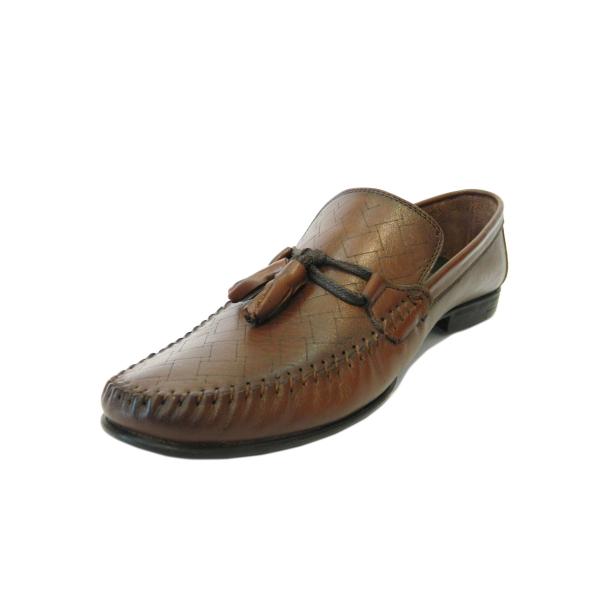 Pantofi pentru barbati din piele naturala, 70s, Goretti, Maro, 40 EU [2]
