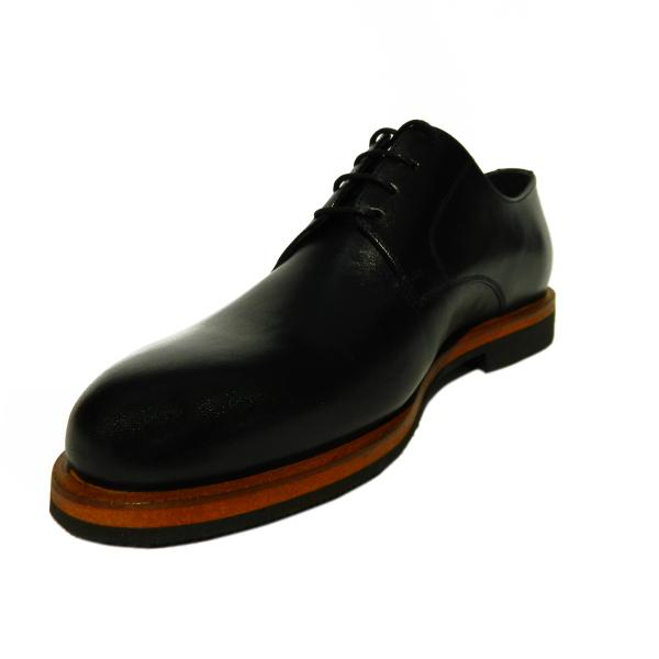 Pantofi pentru barbati din piele naturala, Florida, Goretti, Negru, 39 EU 2