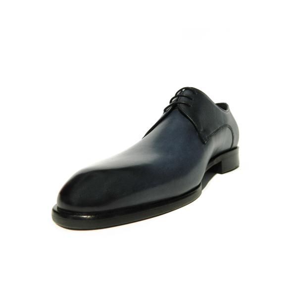 Pantofi eleganti pentru barbati din piele naturala, Bojan, Goretti, Albastru, 40 EU [2]